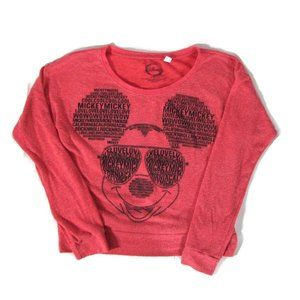 Disney Mickey Mouse Red Black Jerry Leigh Shirt S